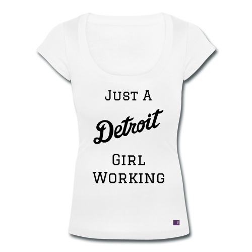 Detroit Girl Working Tee - White