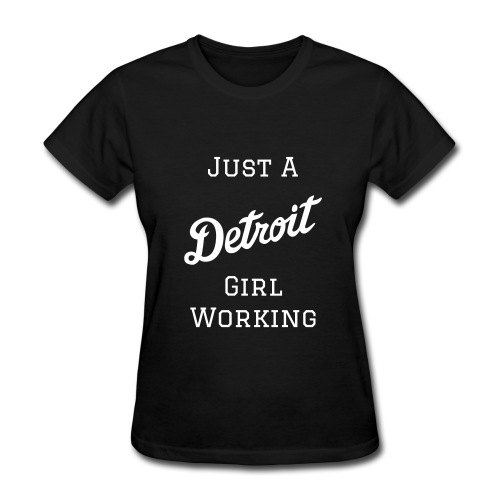Detroit Girl Working - Black/White